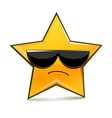 Serious funny star in sunglasses vector image