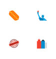 set of america icons flat style symbols with made vector image vector image