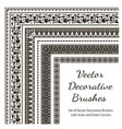 set of decorative brushes vector image vector image