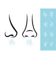 smell icons with human nose vector image vector image