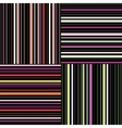 Striped Seamless abstract pattern Template for vector image vector image