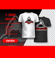 t-shirt mockup with assassins phrase in two vector image vector image