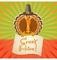 Thanksgiving Turkey Birds and text Crazy Price vector image vector image