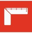 The setsquare icon Building square symbol Flat vector image vector image