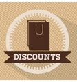 trade discount design vector image