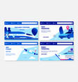 transportation banners ferry terminal air vector image