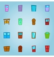 Types of doors icons set cartoon style vector image vector image