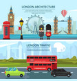 urban landscape of london banners set vector image vector image