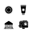 vacation holiday simple related icons vector image vector image