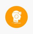vr googles headset reality virtual white glyph vector image