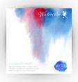 Watercolor card design vector image
