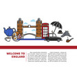 welcome to england promotional banner with sample vector image
