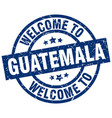 welcome to guatemala blue stamp vector image vector image