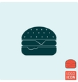 Burger icon isolated vector image