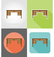 furniture flat icons 13 vector image