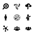 9 social icons vector image vector image