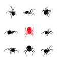 black widow spider in silhouette style vector image vector image