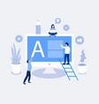 blogging design concept vector image vector image