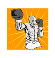 Boxer Boxing Knockout Punch Retro vector image vector image