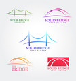bridge symbol collections template vector image