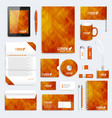 brown set of corporate identity template vector image vector image