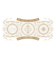Card design with engraving and floral details vector image vector image