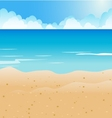 Cartoon Beach and blue sea background vector image vector image