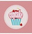 Cartoon cupcake icon vector image