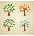 Colorful seasonal tree set