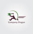 delivery logo design vector image vector image