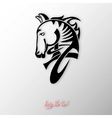 digital drawing of tribal head horse silhouette vector image vector image