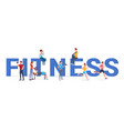 fitness big letters flat vector image vector image