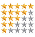 five star ranking vector image vector image