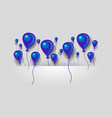 flat blue and purple air balloons background vector image