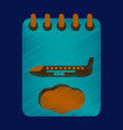 flat icon in shading style aircraft calendar vector image