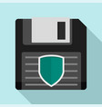 floppy disk protected icon flat style vector image