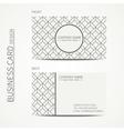Geometric cube monochrome business card template vector image