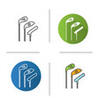 golf clubs icon vector image