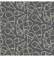 Grunge seamless pattern with ice cream cons on vector image vector image