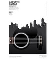 guitar concert poster background template vector image vector image