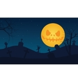Halloween tomb and scary moon vector image vector image