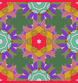 hand-drawn mandala colored abstract pattern on a vector image vector image