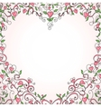 Heart-shaped frame vector image vector image