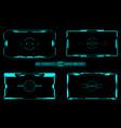 Hud futuristic user screen basic elements set