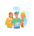 icons people with speech bubblesworldwide vector image