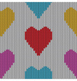 Knitted heart Valentine day vector image vector image