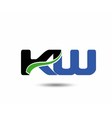 KW company linked letter logo icon vector image