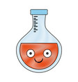 laboratory flask isolated cartoon smiling vector image vector image