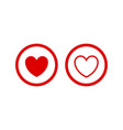 love icon button vector image