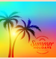 lovely colorful summer holidays background vector image